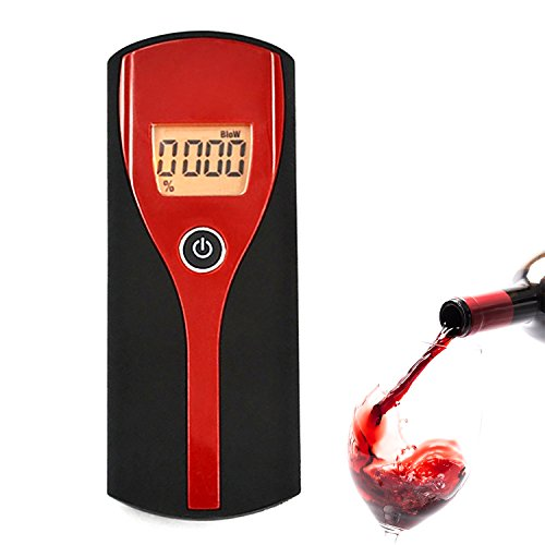 Professional Breathalyzer Digital Breath Alcohol Tester Portable LCD (Flashing Lcd Keychain)
