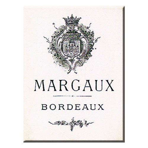 - Souvenirs of France - 'Margaux' Bordeaux Metal Magnet