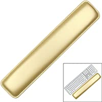 Keyboard Wrist Rest Pad,Soft PU Leather Wrist Support with Interior Soft Cushion Foam for Office/Computer/Laptops/MacBooks,Easy Typing & Pain Relief,16.5 Gold