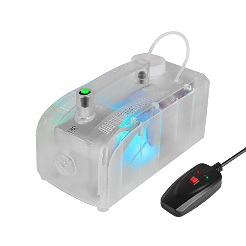 TSSS 300W Mini Fog Machine LED Smoke Machine DMX Wired Remote Control Fogger for Party Live Concert Movie Choreography (Halloween Smoke Machine)