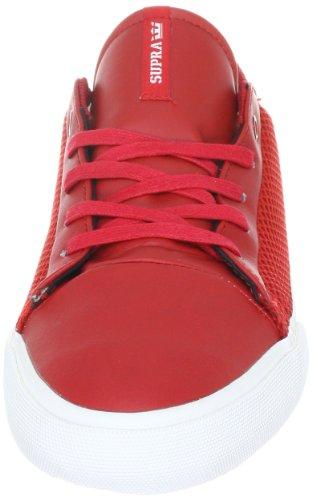 Supra Assault S02046 - Zapatillas de cuero para hombre Rojo (Rot (Formula One Red Action Leather/Mesh))