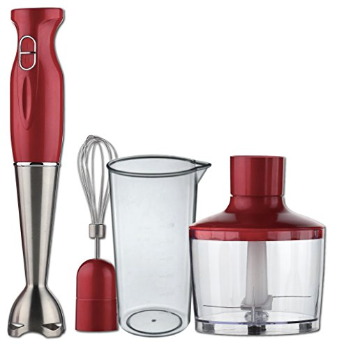 Ovente HS585R Multi-Purpose Immersion Hand Blender