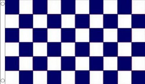 Bandiera COMMISSARIO di Pista 60 x 90 cm Foro per Asta AZ FLAG Bandiera di Karting Blu con Due DIAGONALI Rosse 90x60cm