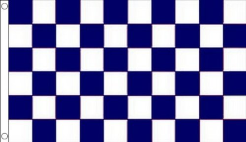 AZ FLAG Navy Blue and White Check Flag 3' x 5' - Checkered Racing Flags 90 x 150 cm - Banner 3x5 -