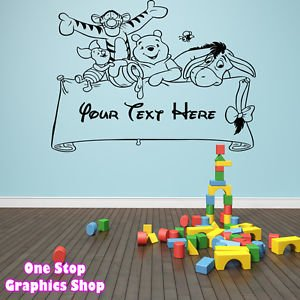 Exceptional 1Stop Graphics   Shop Winnie The Pooh Personalised Wall Art Sticker 2    Girl Boy Kids Part 26