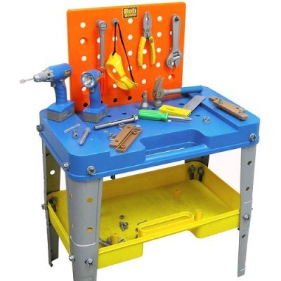 amazon com bob the builder power tool work bench with over 40 tools