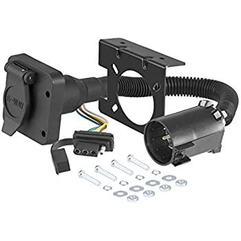 Amazon.com: CURT 55664 Dual-Output Vehicle-Side Trailer Wiring ... on power cable for trailer, lights for trailer, fuse box for trailer, water hose for trailer, frame for trailer, circuit breaker for trailer, tires for trailer, air filter for trailer, terminal block for trailer, water pump for trailer, step for trailer,