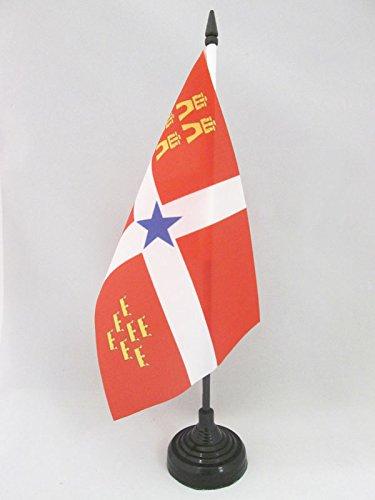AZ FLAG Bandera de Mesa de Murcia INDEPENDENTISTA 21x14cm - BANDERINA de DESPACHO MURCIANISMO - NACIONALISTA MURCIANA 14 x 21 cm