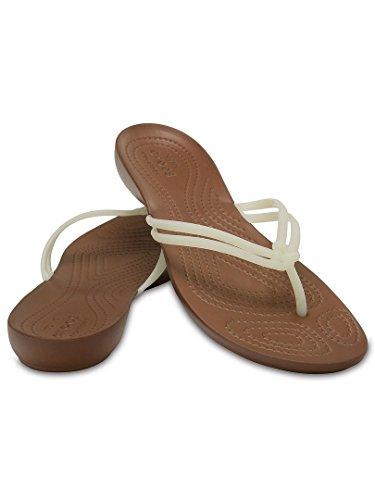 crocs(クロックス) レディース 女性用 シューズ 靴 サンダル Isabella Flip - White/Bronze [並行輸入品]