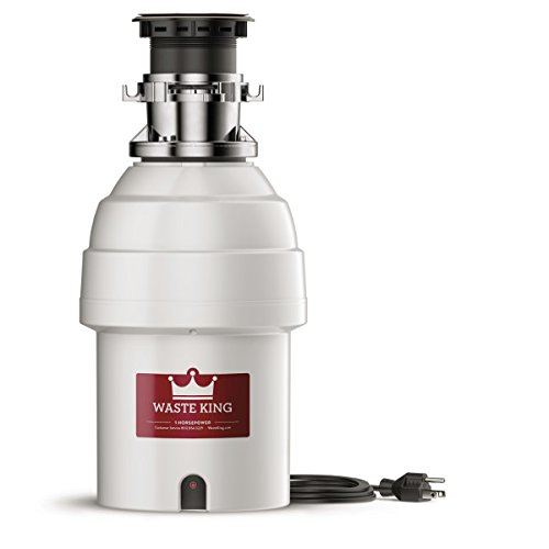 Waste King L-8000TC Batch Feed Garbage Disposal with Power Cord, 1HP