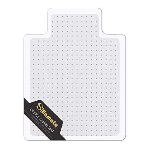 SILLAMATE1 팩 36X48사무실 의자를 위한 매트 바닥 카펫 평 포장 쉬운 평평하게 누워 무거운 의무 지면 매트는 ECO 친절한 시리즈 박힌 카펫 자 매트 데스크
