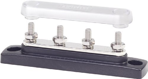 Blue Sea Systems 2315 MiniBus 100 Ampere Common BusBar (4 x 10-32 Stud Terminal with Cover) PC, Personal Computer