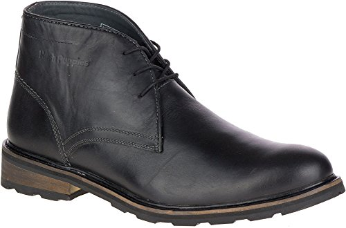 Hush Puppies Mens Benson Rigby Ice Boot Black Wp Leather 1TFA2C3G