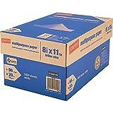 Staples Multipurpose Inkjet and Laser Paper, Bright White, 20 lb., 5000 Sheets/Case