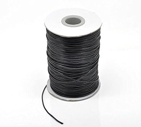 1/mm x 180/metros de hilo de cable de cord/ón de algod/ón encerado para pulseras//collares beige