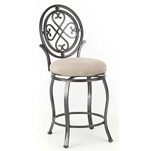 Swivel Counter Stool in Brushed Silver