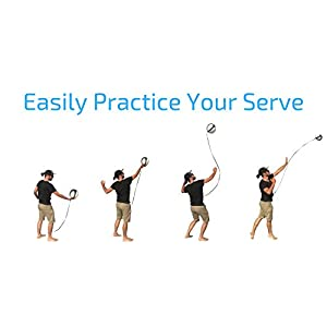 Volleyball Training Equipment Ball Rebounder Aid To Practice Solo Arm Swing Rotations, Tossing Up Overhand Serves and Hitting Spikes | Tether Returns Volley Ball To You | Includes Instructional eBook
