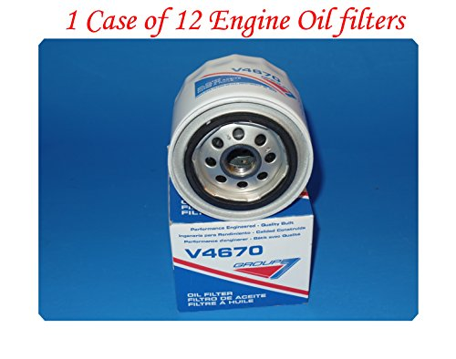 Wholesales Price (Lot of 12)Engine Oil Filter V4670 Group7 Made In USA Fits: Austin Chrysler Dodge Ford Lotus MG Nissan Plymouth Toyota
