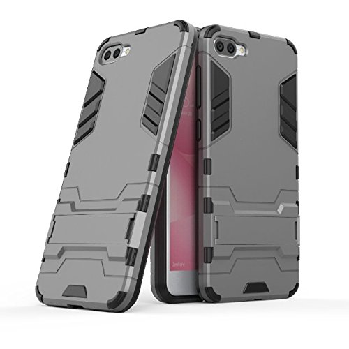 TPU/PC Shockproof Cover Case For Zenfone Max (Grey) - 3