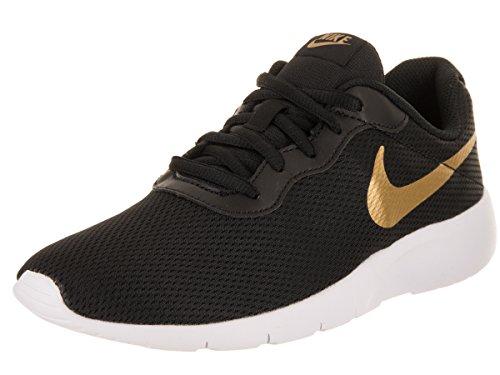 size 40 61bff a88c0 ... usa galleon nike boys tanjun gs running shoes 6 big kid m black  metallic gold white