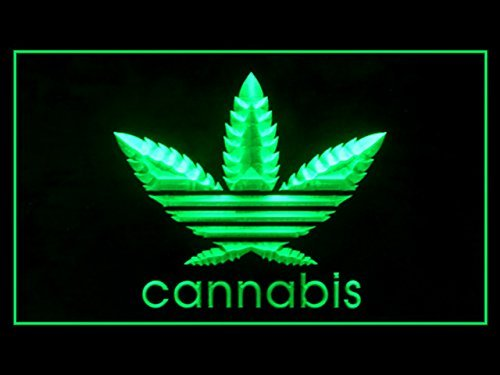 Cannabis Marijuana Weed High Life Display Led Light Sign by Lamazo