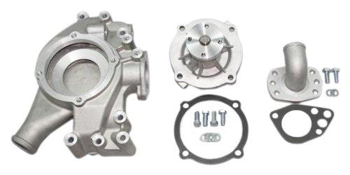 "PRW 1474400 Performance Quotient As-Cast 5/8"" Pilot Shaft High Flow Aluminum Water Pump for Mopar 361-440, 1958-71 Hemi and BB 68-79"