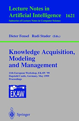 Knowledge Acquisition, Modeling and Management: 11th European Workshop, EKAW'99, Dagstuhl Castle, Germany, May 26-29, 19