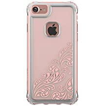 Ballistic iPhone 7 Case [Jewel Essence] Clear with Rose Gold Whispers  Six-sided - 6ft Drop Test Certified Polycarbonate Back with TPU Trim Phone Case for Apple iPhone 7 – Clear and Rose Gold