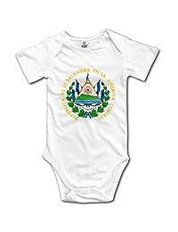 Olyha Republic De El Salvador En La America Central Baby Boys Girls Bodysuit Onesies Infant Fashion Romper Outfits