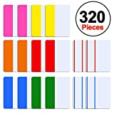SIQUK 320 Pieces Tabs 2 inch Index Tabs Sticky Page Markers Colored Tape Flag Dispensers for Reading Notes, Books and File Folders, 8 Sets 6 Colors