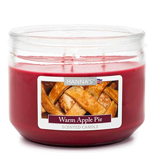 (Warm Apple Pie Scented 3 Wick Candle)