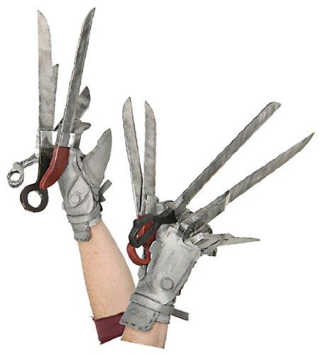 [Edward Scissorhands Deluxe Gloves] (Scissorhand Edward Costume)