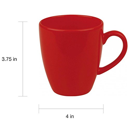 MyEasyShopping Fun Factory Red Jumbo Cafe Latte Cups (Set of 4) Fun Factory Classic Set Mugs
