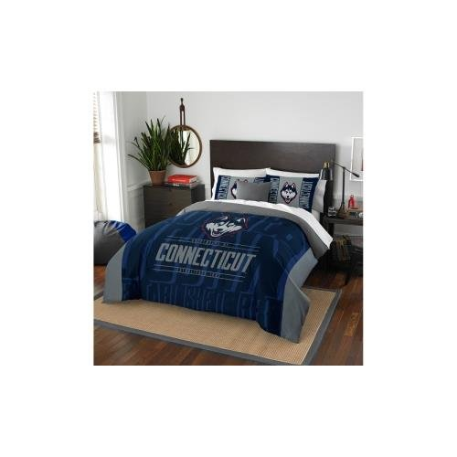Officially Licensed NCAA Connecticut Huskies Modern Take Full/Queen Comforter and 2 Sham Set (Pillow Huskies Connecticut)