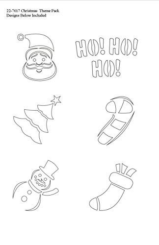 Badger Totally Tattoo Body Art Stencils Christmas Theme Pack