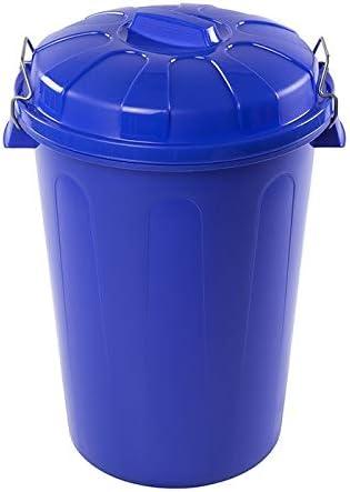 CABLEPELADO Cubo Basura plastico Comunidad con Tapa 100 litros Rojo