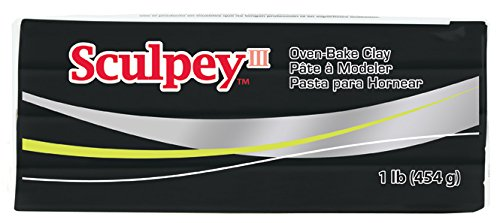 Sculpey III Polymer Clay, 1-Pound, Black, 1/pkg