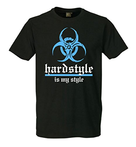 Hardstyle is my style Destroy hellblau T-Shirt Schwarz