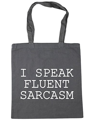 HippoWarehouse I Fluent Graphite Bag Grey Gym Shopping Beach 42cm 10 Sarcasm litres x38cm Speak Tote AgrfwAq