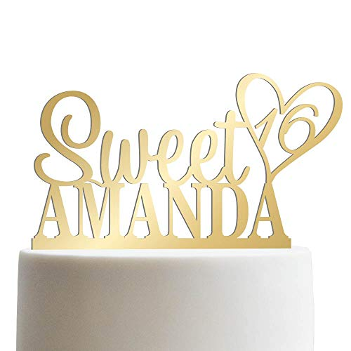 Personalized Sweet Sixteen Cake Topper 16th Birthday