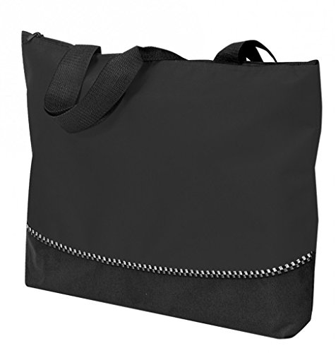 DDI 1902387 Poly Tote Bag With Zipper - Black by DDI
