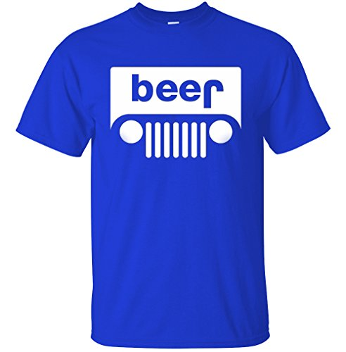 YM Wear Beer Funny Drinking T Shirt 2X-Large Royal Blue