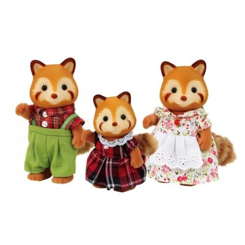 Calico Critters #CC1492 Red Panda Family - New Factory Sealed