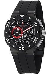 MomoDesign Tempest MD1004BK-01BKRD 46mm Stainless Steel Case Black Silicone Mineral Men's Watch