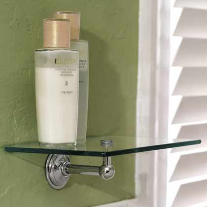 Motiv 2636/SN London Terrace Glass Tray Bathroom Shelf