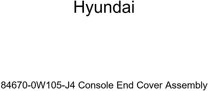 Genuine Hyundai 84670-0W105-J4 Console End Cover Assembly