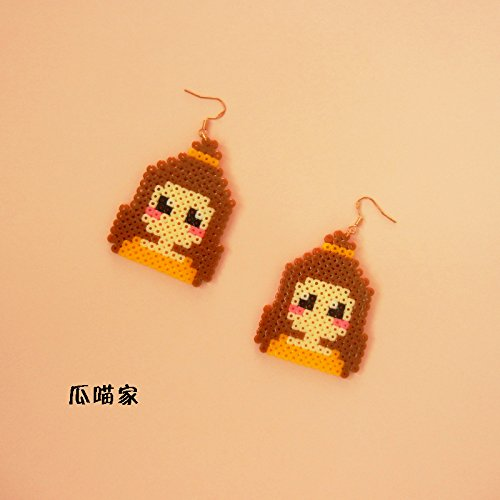 Meow hand of melon fight for pixel mosaic beans Ja and South Korea cute little girl girl 925 silver earrings ear clip