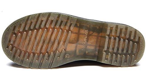uBeauty Damen Lederstiefel Flache Boots Klassischer Schnüren Freizeitschuhe Braun Samt