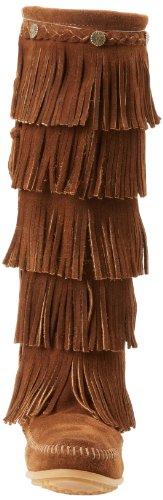 Minnetonka 5-Layer Fringe, Botas Mocasin Para Mujer Marrón (Dusty Browndusty Brown)