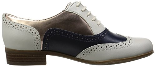 Zapatos Blanco Derby mujer Clarks Hamble Oak Combi White para Off qYwqEtx